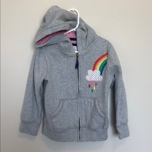 Mini Boden appliqué hoodie
